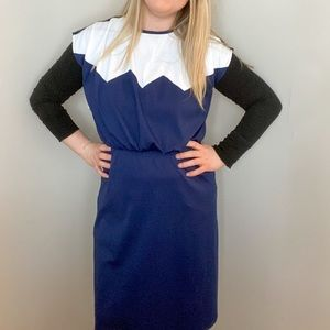 (3/$25)Femme Vintage Colorblocked Dress